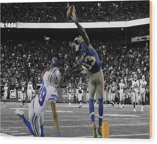 Odell Beckham Greatest Catch Ever Wood Print