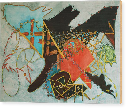 Odin's Dream Wood Print