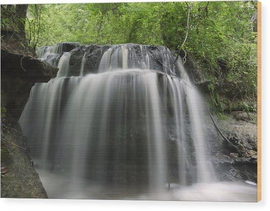 Odom Creek Waterfall Georgia Wood Print
