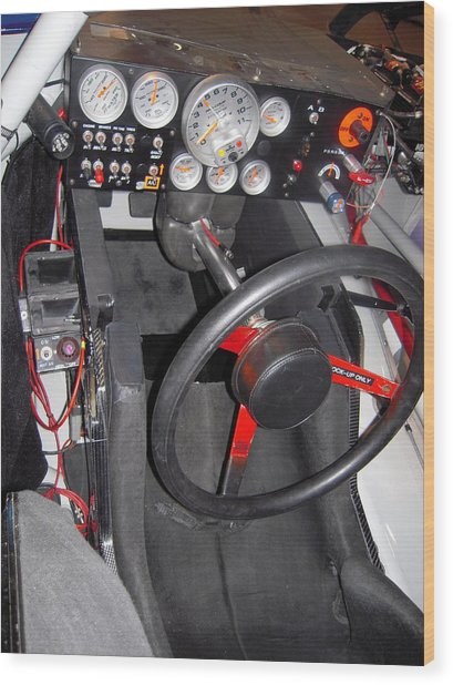 Office For A Race Driver Wood Print