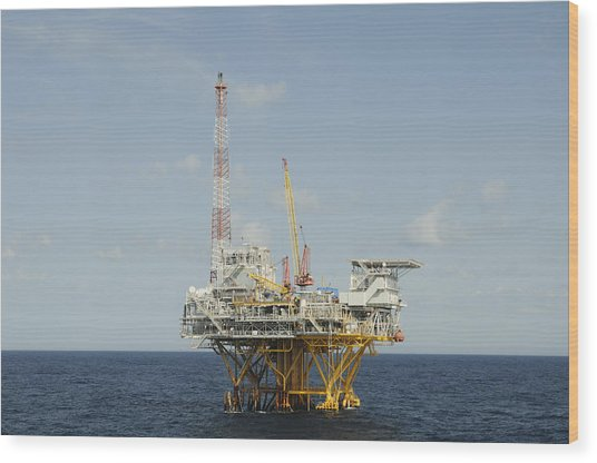 Offshore Natural Gas Platform Wood Print