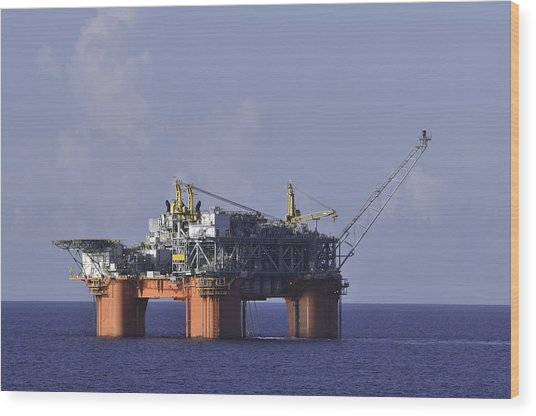 Offshore Production Platform Wood Print