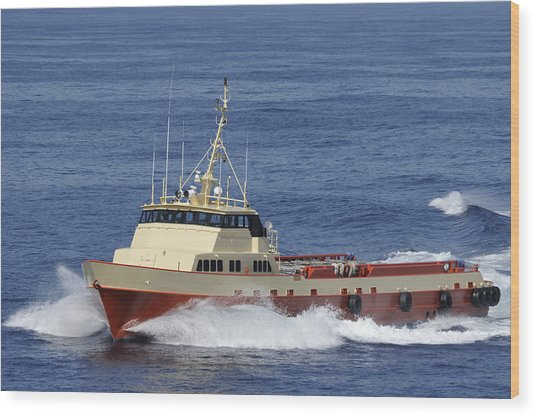 Offshore Supply Vessel Wood Print