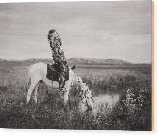 Oglala Indian Man Circa 1905 Wood Print