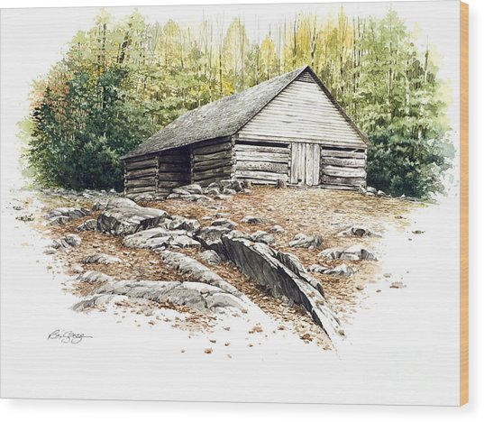 Ogle Barn - 1880 Wood Print