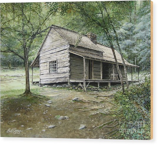 Ogle Cabin Wood Print