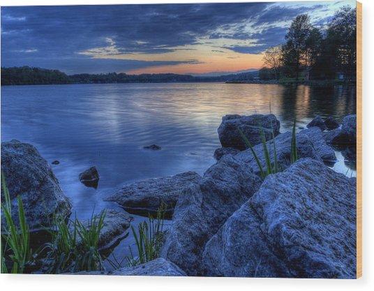 Ohio Spring Sunset Wood Print