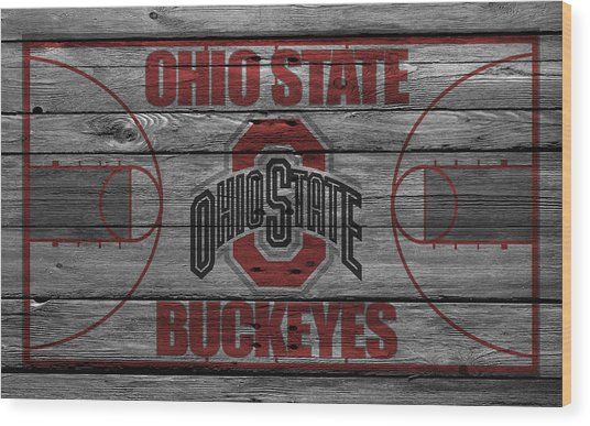 Ohio State Buckeyes Wood Print