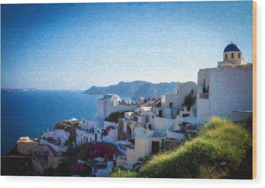 Oia Santorini Grk4332 Wood Print