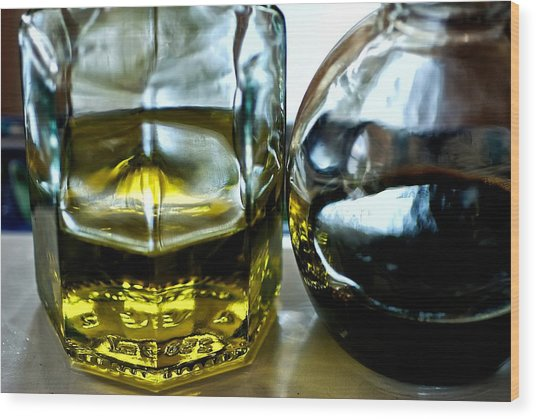 Oil And Vinegar 2 Wood Print by Guillermo Hakim
