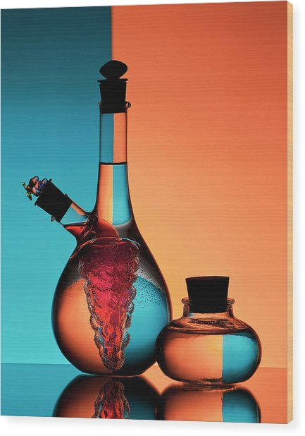 Oil And Vinegar Wood Print by Aida Ianeva