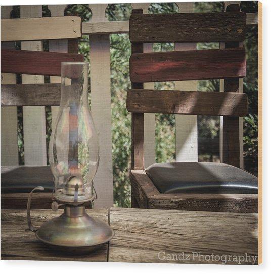 Oil Lamp 2 Wood Print