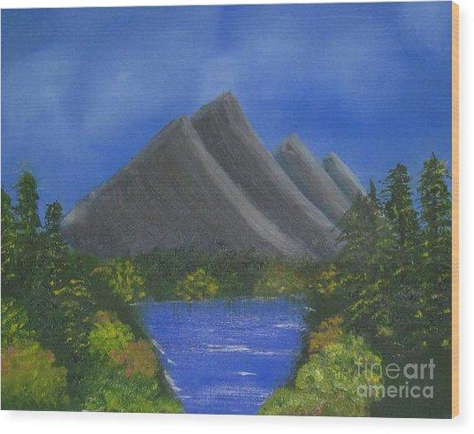 Oil Painting - Greenery Wood Print