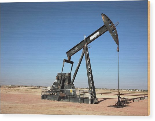 Oil Pump Wood Print by Bildagentur-online/tschanz-hofmann