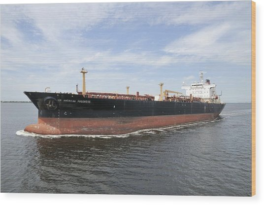 Oil Tanker Wood Print