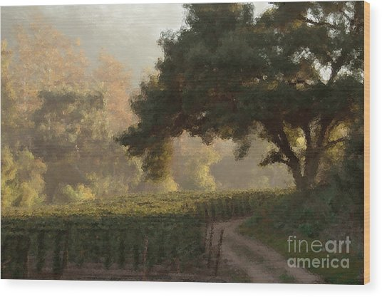 Ojai Vineyard Wood Print