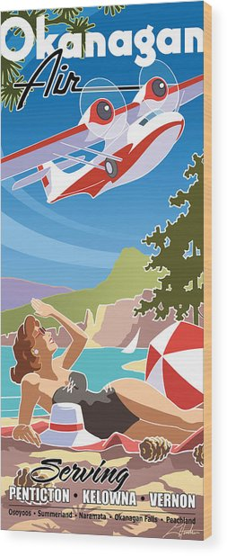 Okanagan Air, Mid Century Fun Wood Print
