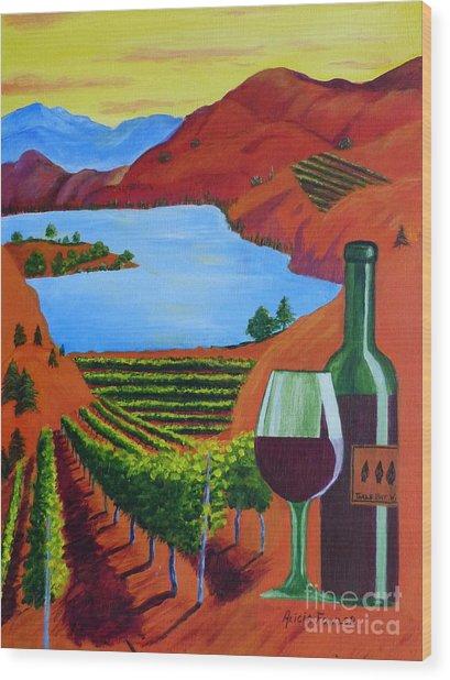 Okanagan Wine Country Wood Print