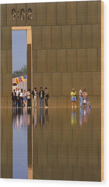 Oklahoma City Memorial Wood Print