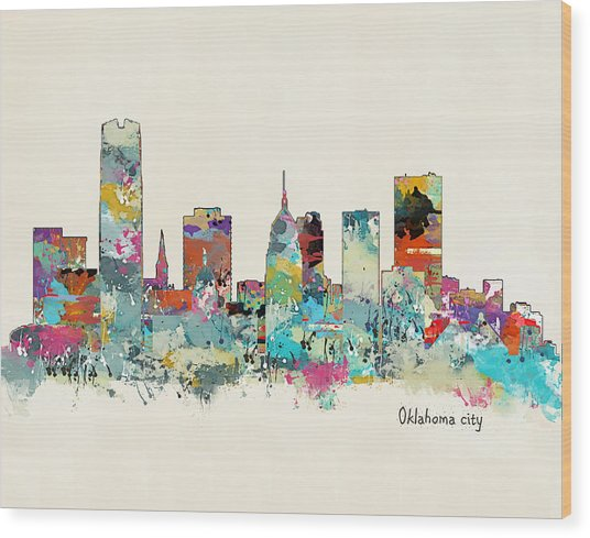 Oklahoma City Oklahoma Wood Print