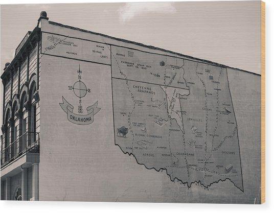 Oklahoma Mural Wood Print