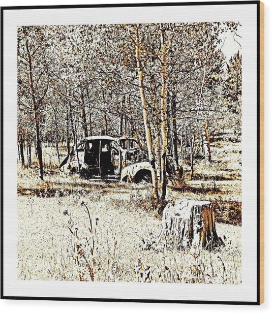 Ol Car Wood Print
