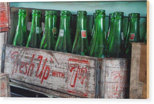 Old 7 Up Bottles Wood Print