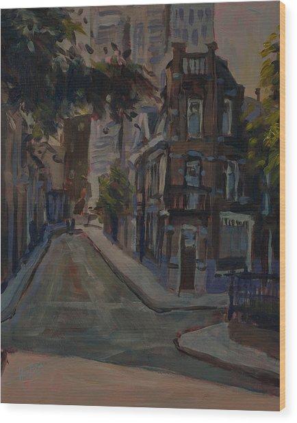Old And New Noordstraat Tilburg Wood Print