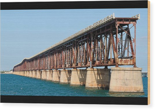 Old Bahia Honda Bridge 2 Wood Print