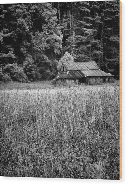 Old Barn 02 Wood Print