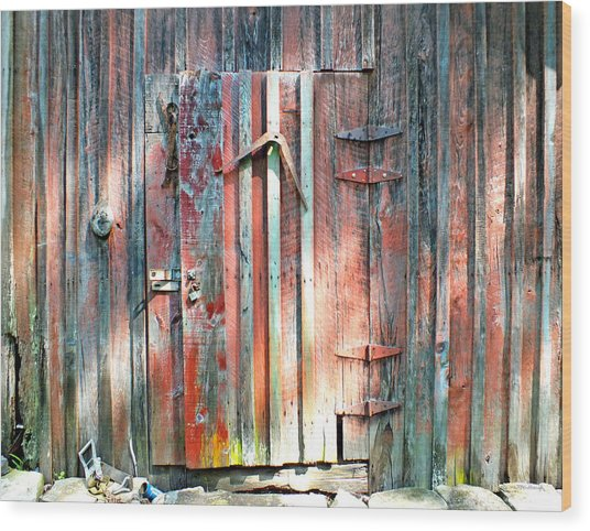 Old Barn Door 2 Wood Print