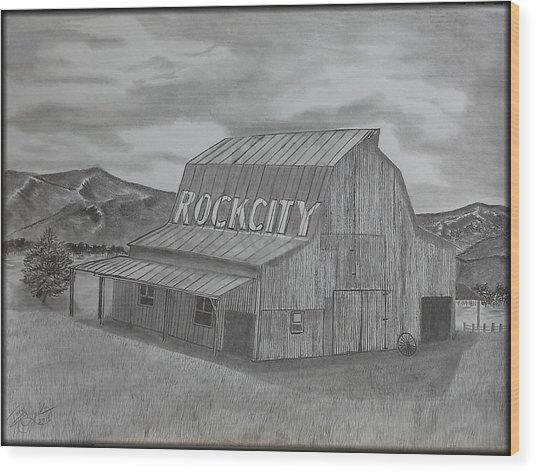 Old Barn II Wood Print