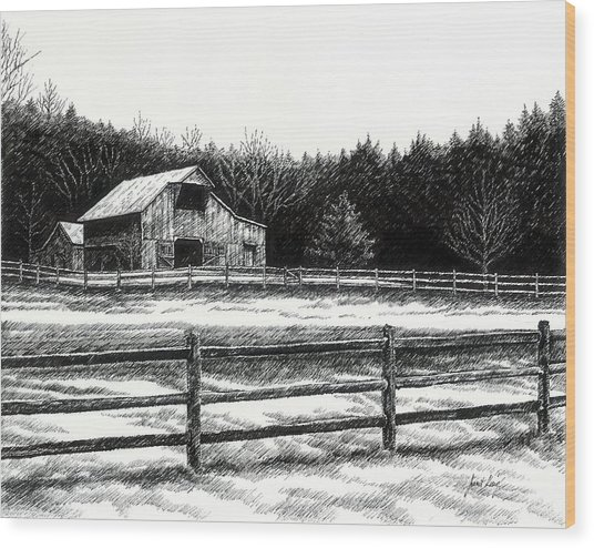 Old Barn In Franklin Tennessee Wood Print