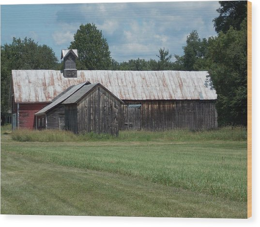 Old Barn In Vermont Wood Print