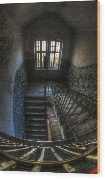 Old Barracks Stairs Wood Print