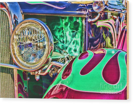 Old Betty Ford Vintage Car By Diana Sainz Wood Print