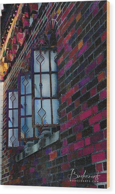 Old Brick Renewed Wood Print