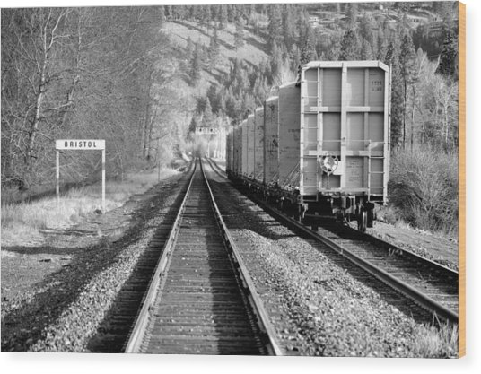 Old Bristol Rail In Ellensburg Wood Print