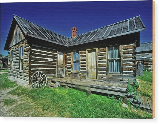 Old Building In Ghost Town Wood Print