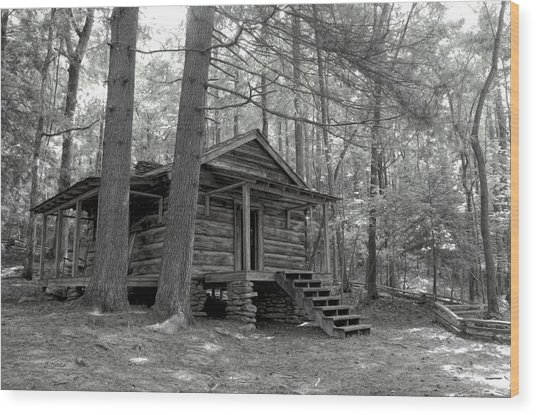 Old Cabin  Wood Print by Bob Jackson