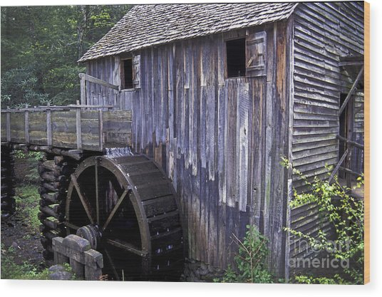 Old Cades Cove Mill Wood Print