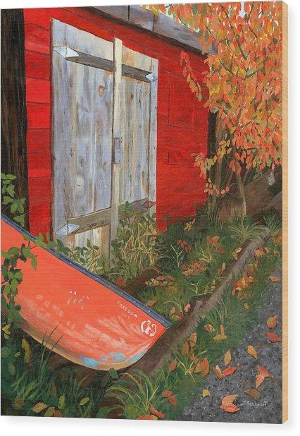 Old Canoe Wood Print