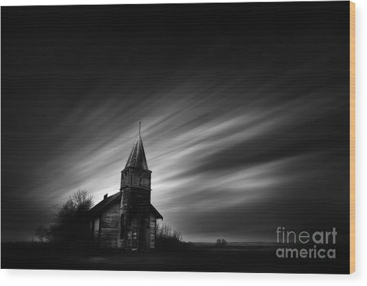 Old Church Wood Print
