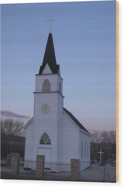 Old Church Wood Print by Yvette Pichette