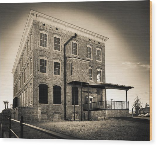 Old Cigar Factory Wood Print by Ybor Photography