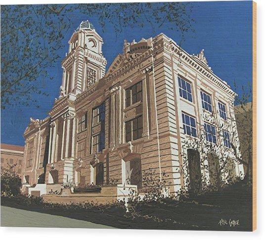 Old City Hall Reversed Reverse Wood Print by Paul Guyer