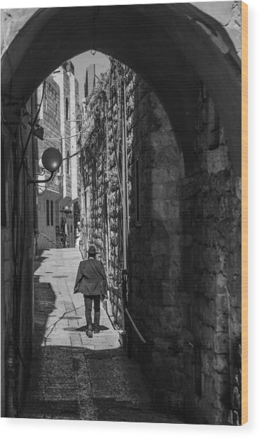 Old City Jerusalem Streets Wood Print