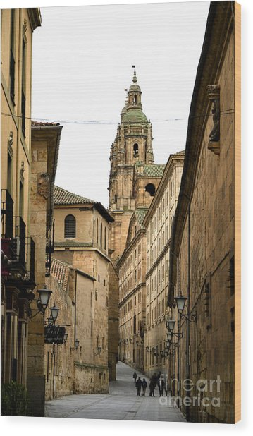 Old City Of Salamanca Spain Wood Print