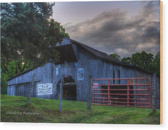 Old Conasauga Barn  Wood Print by Paul Herrmann