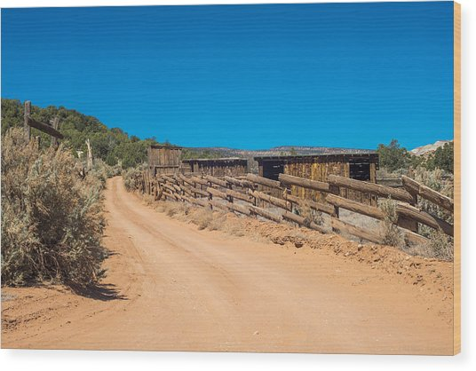 Old Corral Wood Print by Phil Abrams